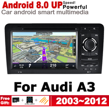 7 HD IPS DSP Stereo Android 8.0 up Car DVD GPS Navi Map For Audi A3 8P S3 2003~2012 MMI multimedia player radio WiFi System ips android 2 din car dvd gps for audi a3 s3 8p 2003 2012 mmi navigation multimedia player stereo radio wifi system