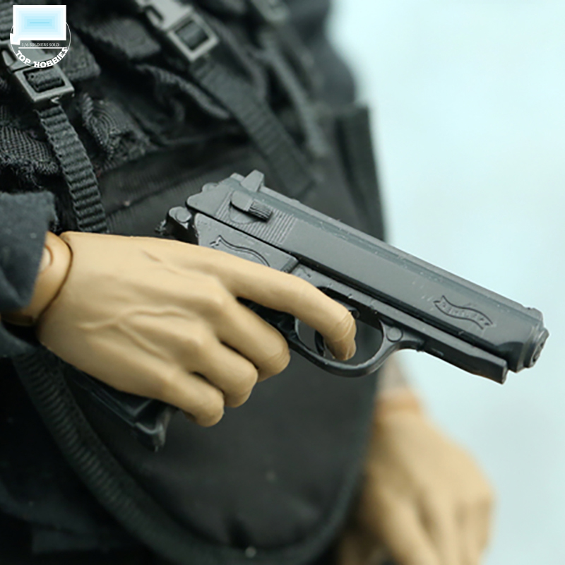 """1//6 Scale Weapon Model Automatic Pistol Walther PPK Gun F 12/"""" Figure Dragon Toys"""