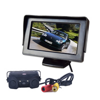 3in1 Video Parking Assistance Sensor Backup Radar With Rear View Camera 4 3 Inch LCD Car