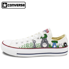 Low Top Women Men Converse All Star My Neighbor Totoro Design Custom Hand Painted Shoes Woman Man Canvas Shoes Boys Girls