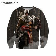 Nueva moda capucha Assassins Creed Hoodies hombres mujeres streetwear  asesino del varón de manga larga Harajuku sudadera 3e7b05d4cb91