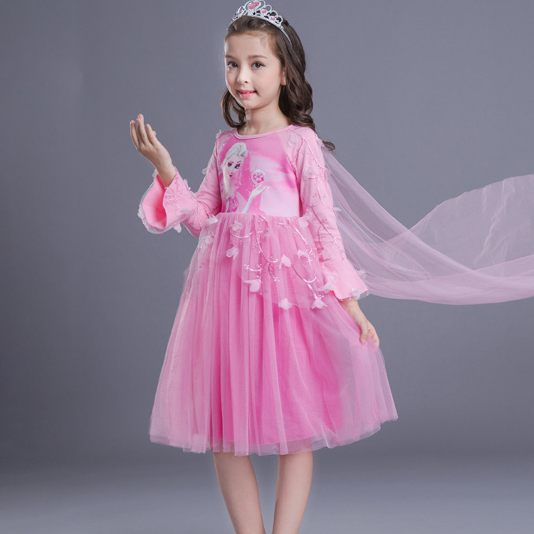 2018 Fashion Girl Elsa Anna vestido Cosplay princesa Vestidos Elsa ...