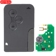 Keyecu Smart Remote Key Fob 3 Button 433MHz PCF7947 for Renault Megane Scenic 2003-2008