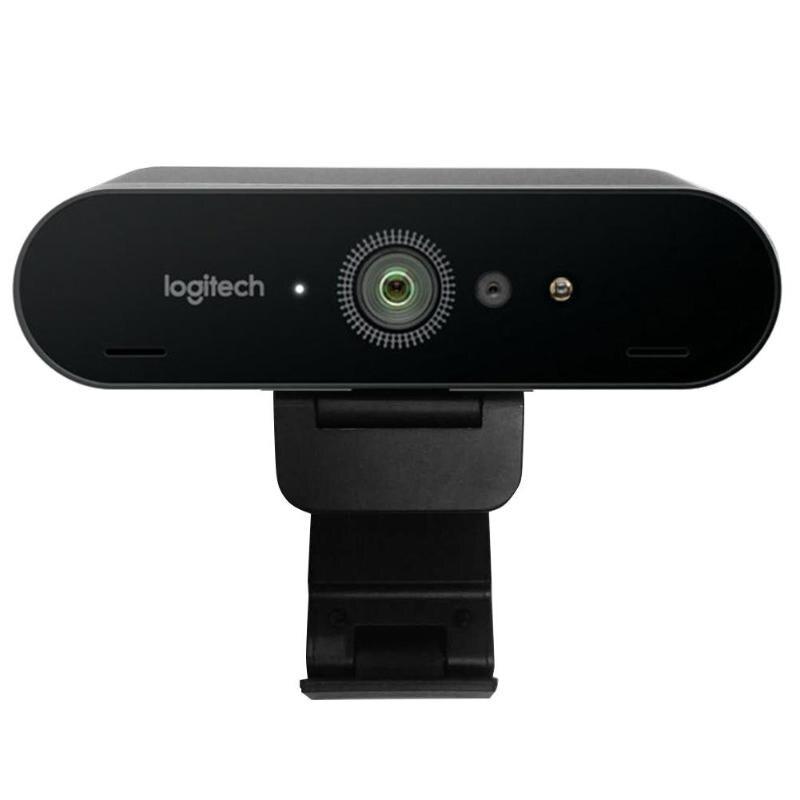 Logitech brio c1000e 4 k hd webcam para vídeo conferência de negócios streaming de gravação para reuniões de zoom/microsoft cortana