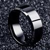 Мода 2017, очаровательное Ювелирное кольцо, мужские черные кольца из нержавеющей стали для женщин 1