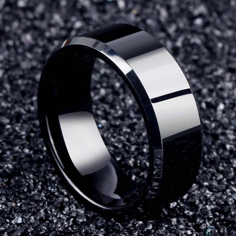 2017 moda urok biżuterii pierścień mężczyzn ze stali nierdzewnej czarne pierścienie dla kobiet