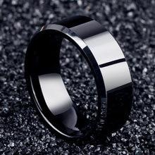 Anelli neri dell'acciaio inossidabile degli uomini dell'anello dei monili di fascino di modo 2017 per le donne