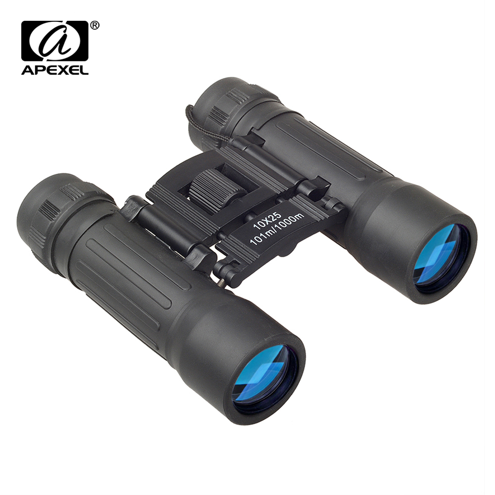 APEXEL Portable Compact Mini Pocket 10X25 Binoculars Telescope for Camping Travel Concerts Outdoors Bird Watching and Hunting image
