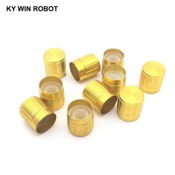 10PCS Potentiometer Plastic Knob 15*17MM Gold bi 6187 181a r1k tapped conductive plastic potentiometer 4p