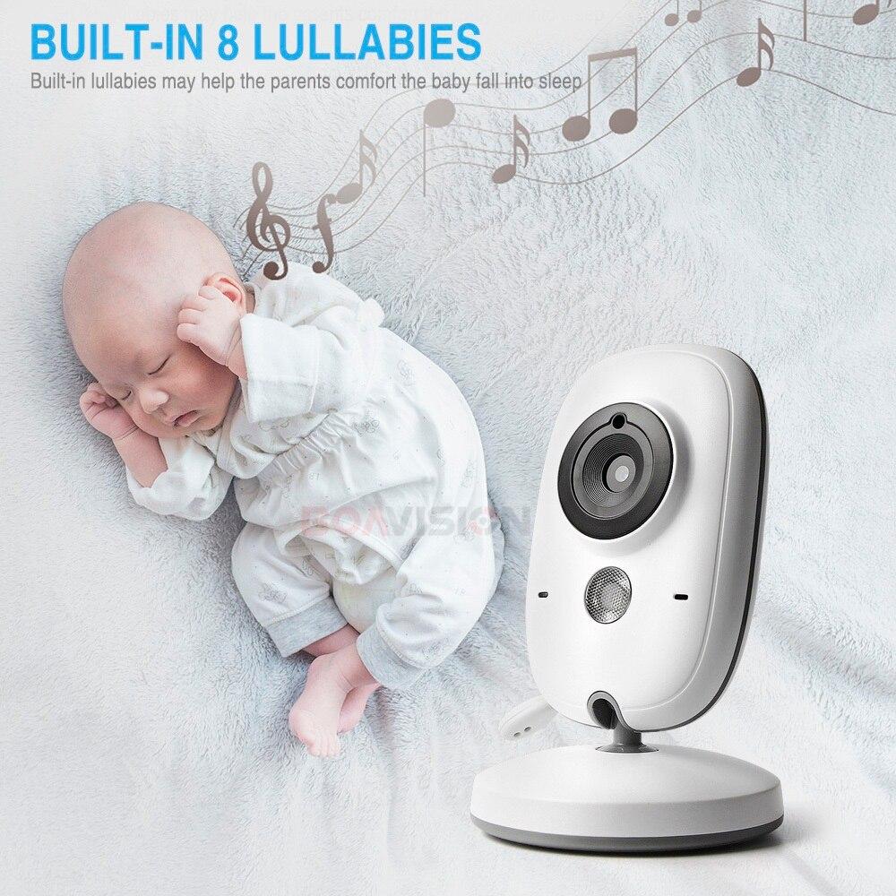 VB603 Video Monitor de bebé 2,4G inalámbrico con pantalla LCD de 3,2 pulgadas 2 Audio hablar de vigilancia de la visión nocturna cámara de seguridad niñera - 4