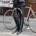VIISHOW Marca causal pantalones de los hombres pantalones de Chándal de Algodón de Los Hombres nuevos Casual Pantalones Bajo la entrepierna de Baile Negro Hip Hop de Los Hombres