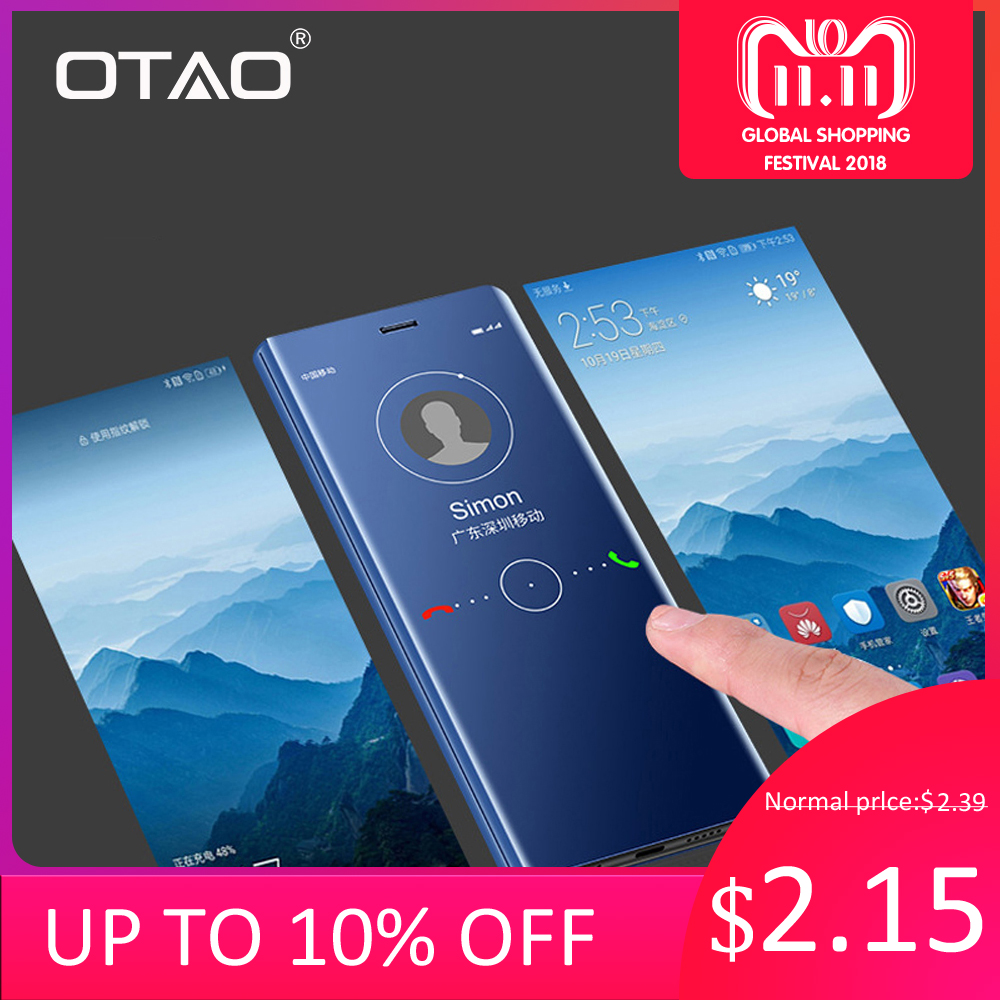 OTAO Clear View Smart Mirror Phone Case For Huawei P20 Pro