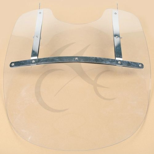 Detachable PC Clear Windscreen Windshield for Harley Softail Slim FLS Fat Boy FLST FLSTC FLSTF FLSTFB FLSTN bar rear axle covers for harley davidson heritage softail classic deluxe flst slim fls flstc flstn flstsb cross bones 2008 2017
