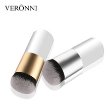 Face Foundation Powder Brush New Chubby Pier Portable Flat Cream Makeup Professional Cosmetic 6 Colors BB Make up Brushes