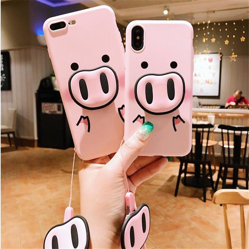 Cell Phone Accessories Alert Fashion 3d Embroidery Pig Lovers Soft Phone Case Cover For Apple Iphone 6-xs Max