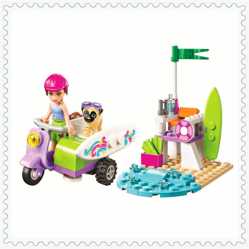 82Pcs Friends Series Mia's Beach Scooter Model Building Block Toys BELA 10603 DIY Educational Gift For Children Compatible Legoe hot sale 1000g dynamic amazing diy educational toys no mess indoor magic play sand children toys mars space sand