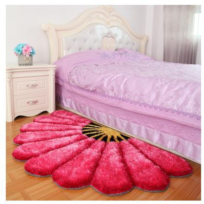 80X150 см утолщенные секторные ковры для спальни, современные 3D коврики с изображением цветов и ковров, диван-пол, детский игровой коврик, половик с цветочным рисунком - Цвет: Розовый