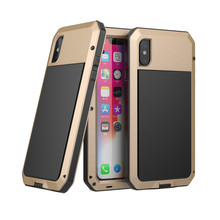 Luxury Heavy Duty Protection Mobile Phone Cases For iPhone XS Max X  8 7 6 6S plus 5 5S SE Metal Case