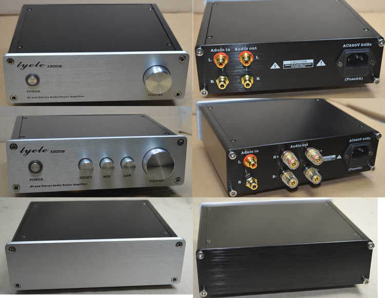 X2006 Mini Penuh aluminium chassis amplifier/DAC/Preamplifier/AMP Enclosure/kasus/DIY box (203*60*170mm)