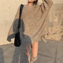 NiceMix 2019 Women Autumn Winter Shiny Bling Bling Sweaters Befree Femal Sweater Knitting Pullovers Turtleneck Tops Jumpers джемпер befree befree be031ewbxju8