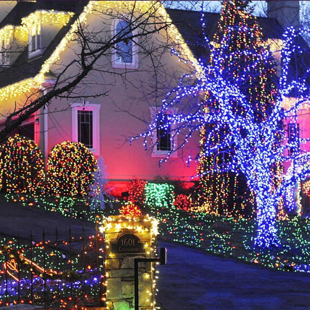 Outdoor Solar Lights LED Christmas Garlands Home Decorate ...