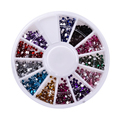Wholesale DIY Glitter Colorful 3d Nail Art Decorations 3mm Round Diamond Rhinestones For Nail Art Decorations Nail Tools