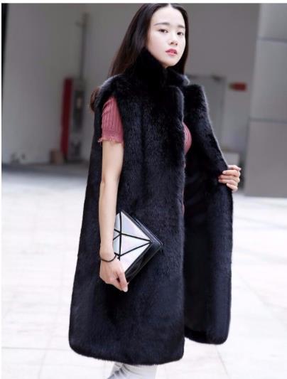 Più Di Q1000 Femme Cappotto Delle 2018 Finta Donne Del Gilet Giubbotti Inverno Formato Il Pelliccia Faux Artificiale 1qw7S4nx