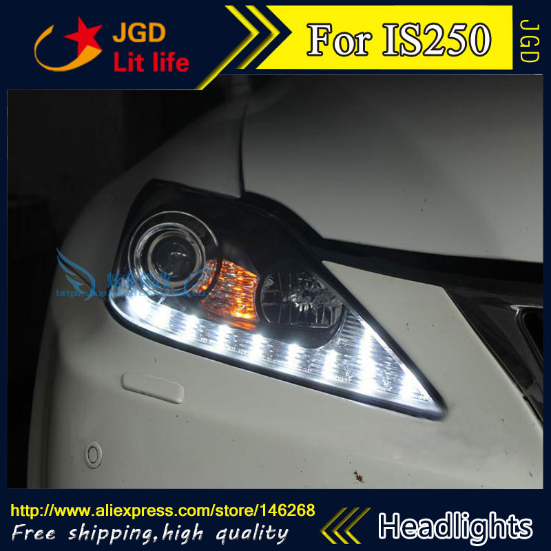 Free shipping ! Car styling LED HID Rio LED headlights Head Lamp case for Lexus IS250 IS300 Bi-Xenon Lens low beam free shipping 3pcs lot car styling xenon white premium package kit led interior lights for kia rio hatchback 2012