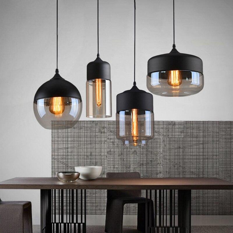 Industrielle Glaskugel Schatten Pendelleuchte Fabrik Fixture Moderne Kche Ffnung Hngende Lampe Fr Wohnzimmer Esszimmer Bar