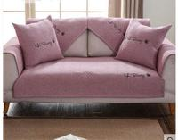 American Sofa Cushion Cotton Hemp Fabric Anti Skid Cushion Embroidery Four Seasons Universal Linen Towel