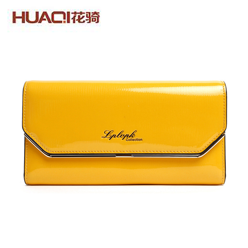 ФОТО High Fashion Quality Women's Wallets Genuine Leather Ladies Purse Luxury Designers Long Money Clips 2017 Famous Brand HQW292-1#