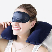 Inflatable U Shaped Pillow Car Head Neck Rest Air Cushion for Travel Free Shipping MGO3