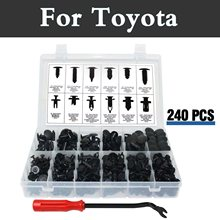 240 шт. 12 видов push-Тип нейлон заклепки комплект Пластик чехол для хранения с заклепками для Toyota 4runner allex Allion aurion Auris Avalon Venza