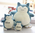 30-50cm 2016 New Anime Snorlax Plush Toys Pillow Cushions Stuffed Animal Doll Chirstmas gift Kids Toys Puppet doll pillow