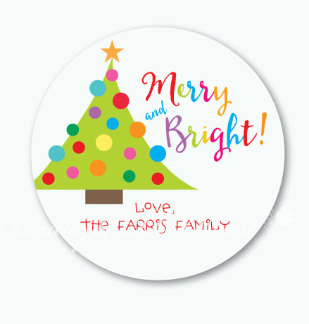 Personalized Candy Box Stickers,Christmas Tree Tags,Gift Labels for