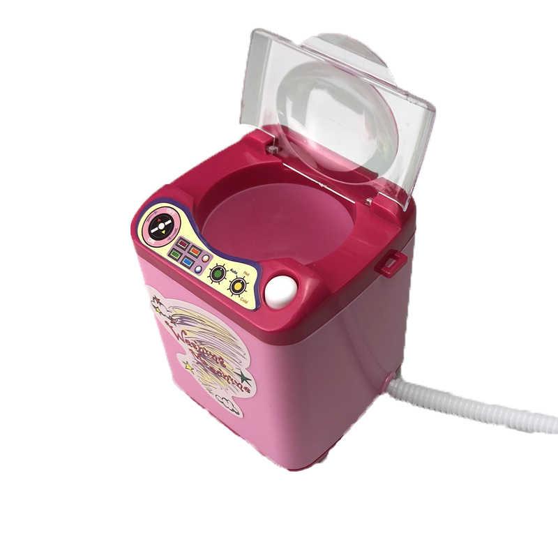 Mini Automatische Reinigung Waschmaschine Spielzeug Multi-funktionale Make-Up Pinsel Reiniger Gerät Simulation Haushalt Reinigung Dropship