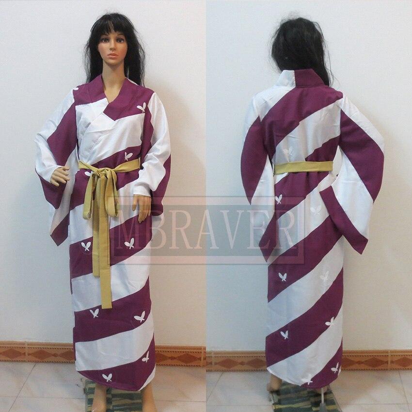 Anime InuYasha Kagura Kimono Cosplay Costume Custom Made Any Size