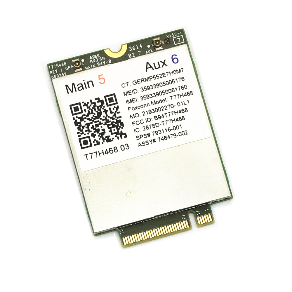 4G Module for HP LT4211 LTE/EV-DO/HSPA+ WWAN Card T77H468 Gobi5000 M.2 EliteBook 820 840 850 G2 810 G3 Zbook14 15U G2(China)