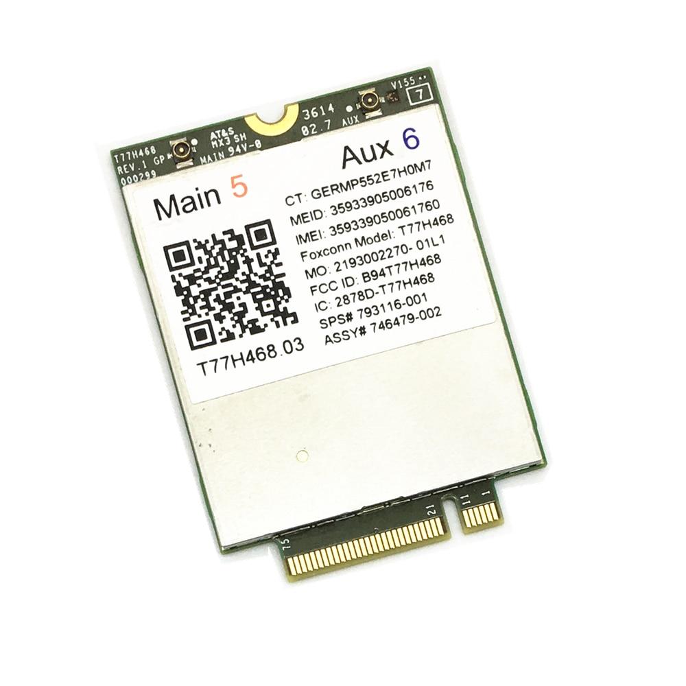 4G Module For HP LT4211 LTE/EV-DO/HSPA+ WWAN Card T77H468 Gobi5000 M.2 EliteBook 820 840 850 G2 810 G3 Zbook14 15U G2