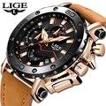 2019 наручные часы lige люксовый бренд Мужские Аналоговые кожаные спортивные часы мужские армейские часы Мужские кварцевые наручные часы Masculino