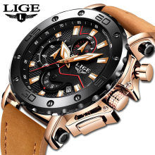 2019 LIGE Watch Luxury Brand Men Analog Leather Sport Watches Men's Army Military Watch Male Date Quartz Clock Relogio Masculino