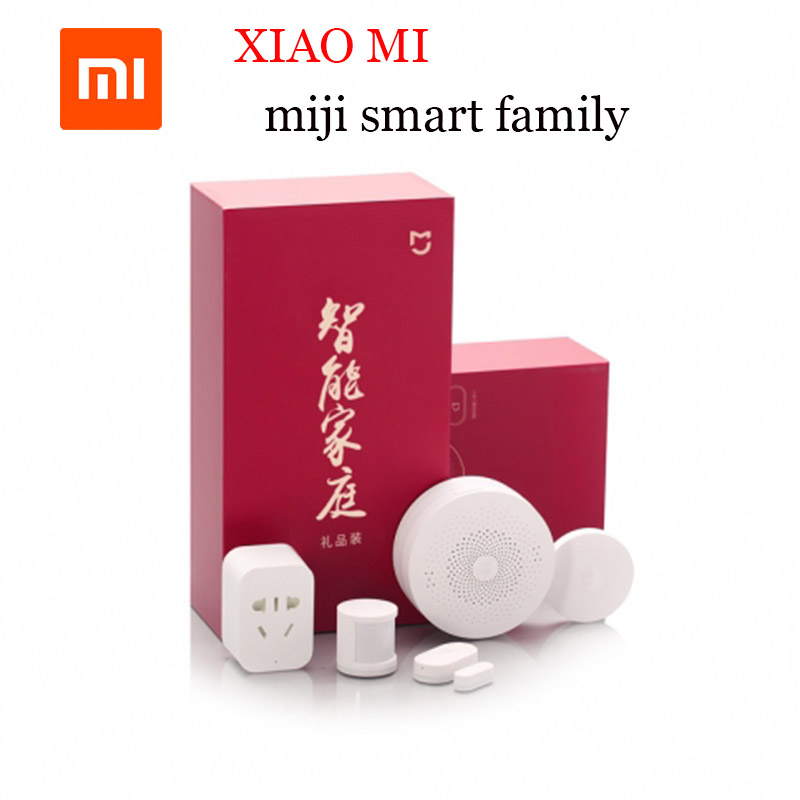 Original xiaomi miji Smart home gift set Smart socket Body sensor wireless switch Door sensor for xaiomi APP control кашпо gift n home сирень