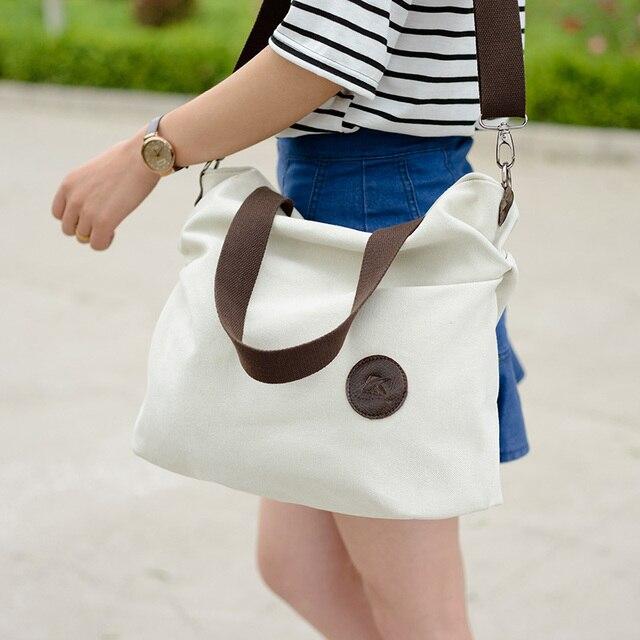 c73a2e933779 Korean Fashion Canvas Crossbody Bag For Women Large Capacity Handbag Purse  Casual Sling Shoulder Bag Fabric