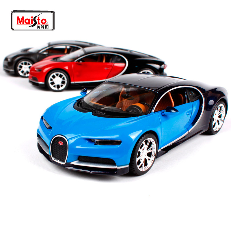 Bugatti Chiron: Maisto 1:24 Bugatti Chiron Blue Diecast Model Racing Car