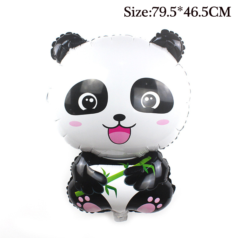 79.5*46.5cm Big Size Balloon Kids Cartoon Panda Foil Balloons Inflatable Toy Cute Animal Balloon Toys for Children Outdoor Toys