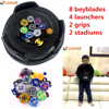 2pcs Set Beyblade Set As Children Toys More That 30 Spare Parts 8 Beyblades 1handles 2