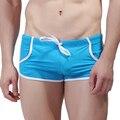 Troncos Swimwear dos homens Novos da marca Sexy Moda Verão Mens Board Shorts Plus Size S-XL Calções de Banho Para Homens