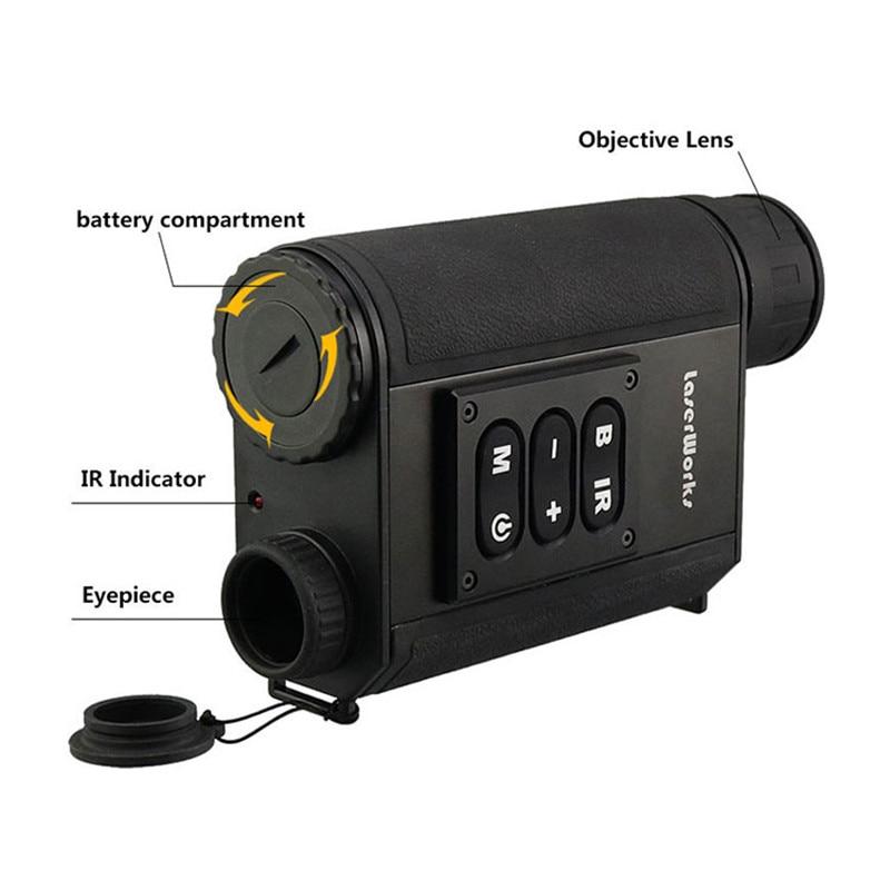 500m Rangefinder Night Vision Waterproof infrared night vision font b laser b font ranging day and