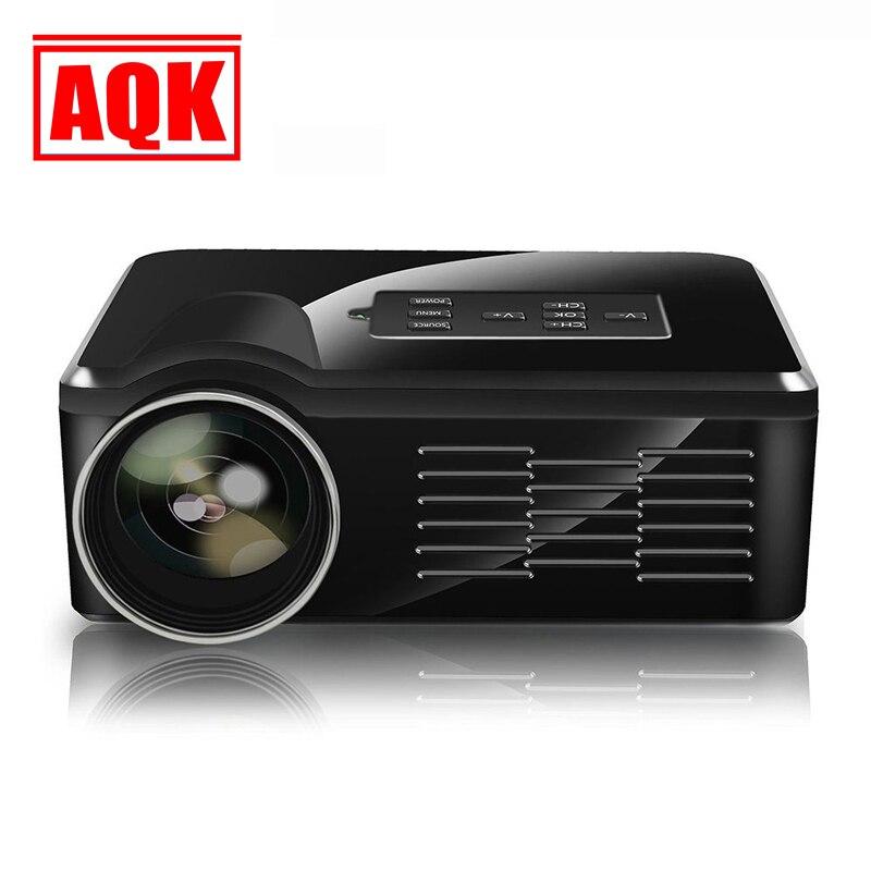 Led TV Proyectores LED de Vídeo Portátil TV Beamer Proyector para Cine en casa M
