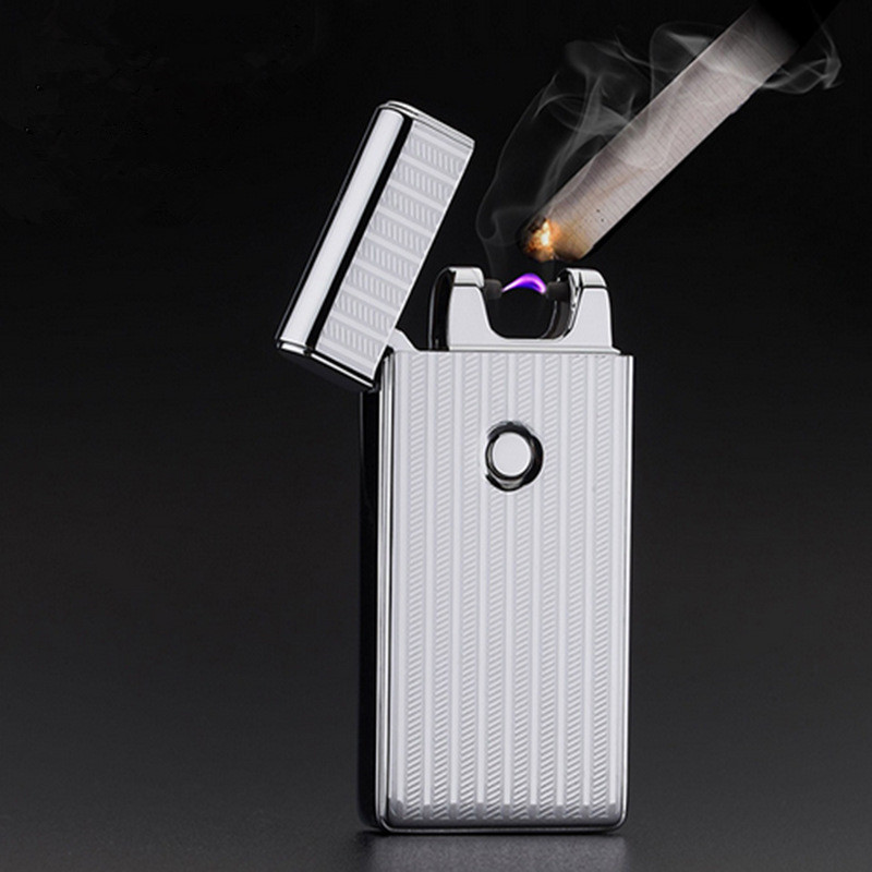 Image 2 - Thunder USB Lighter Rechargeable Electronic Cigarette Accessorie Torch Plasma Cigar Arc Palse Lighter Pulse Windproof Lighter-in Cigarette Accessories from Home & Garden